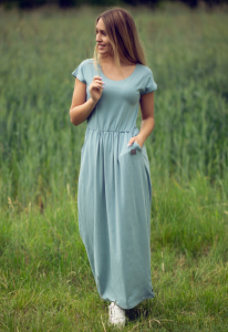 SUKIENKA AURORA - długa, niebieska XS